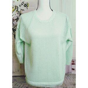 J Crew beach sweater women's size S mint green